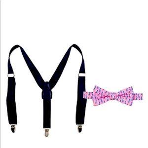 Crown & Ivy Boys Bow tie & Suspender Set